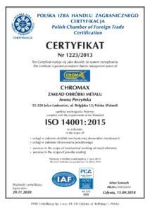 ISO 14001 do 2020
